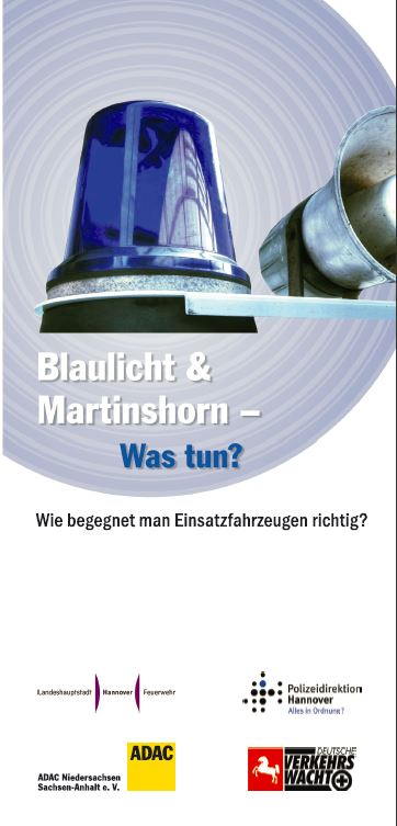 Blaulich und Martinshorn - was nun
